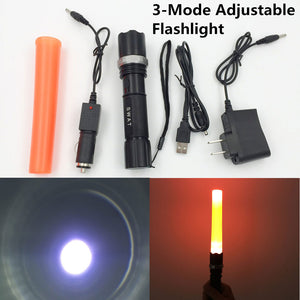 SWAT Flashlight 3 Modes Zoomable LED Torch - Shopatronics