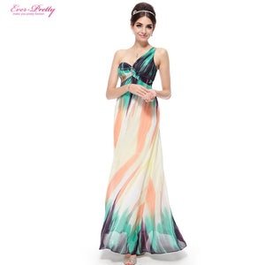 Evening Dresses Ever-Pretty 2017 New Arrival One Shoulder Printed Long Evening Dresses Formal Women Dresses - Shopatronics