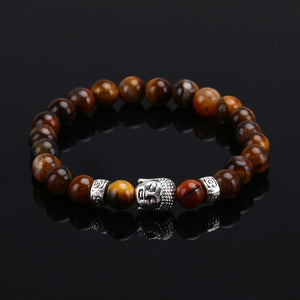Natural Stone Bead Buddha Bracelets For Women and Men - Shopatronics