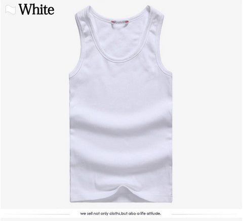 Men t-shirts Summer Cotton Slim Fit Men Tank Tops Clothing Bodybuilding Undershirt Golds Fitness tops tees - Shopatronics