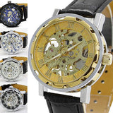FREE Shipping Skeleton Mechanical Sport Wristwatch