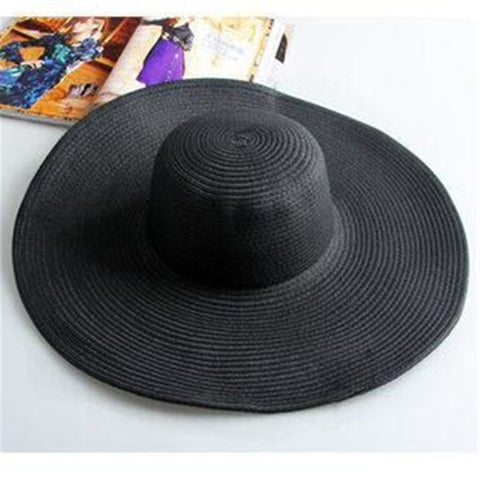 Summer Fashion Floppy Straw Hats Casual Vacation Travel Wide Brimmed Sun Hats - Shopatronics