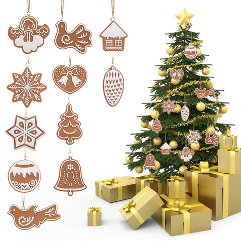 11 PCS Cartoon Animal Snowflake Biscuits Hanging Christmas Tree Ornament [BUY 1 GET 1 FREE + FREE SHIPPING]