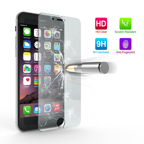 Ultra Thin 9H Tempered Glass Screen Protector Cases for iPhone 4 4S 5 5S SE 5C 6 6S Plus 7 Plus case Premium capa fundas Cover - Shopatronics