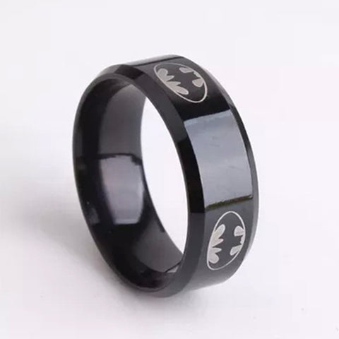 6mm Black Punk Stainless Steel Rings For Men-Women Best Friend Gift