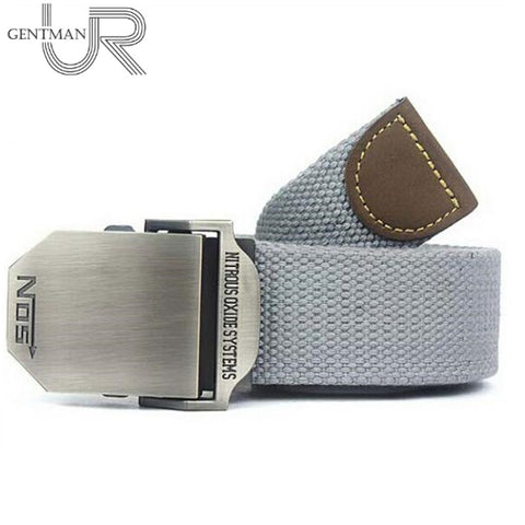 Men Canvas Belt Military Equipment Cinturon Western Strap Men's Belts Luxury - Shopatronics