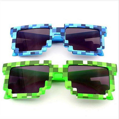 Women-Men Sunglasses Pixel Retro Boys Girls Sun Glasses - Shopatronics