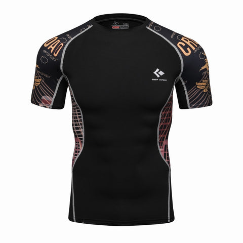3D Printed T-shirts Men Compression Shirt Men's MMA T Shirt Short Sleeve Quick Dry - Shopatronics - One Stop Shop. Find the Best Selling Products Online Today