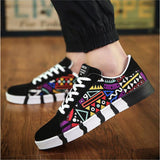Men Shoes New 2017 Spring Canvas Men Casual Shoes Breathable Round Lace-Up Flats British Style Male Shoes - Shopatronics