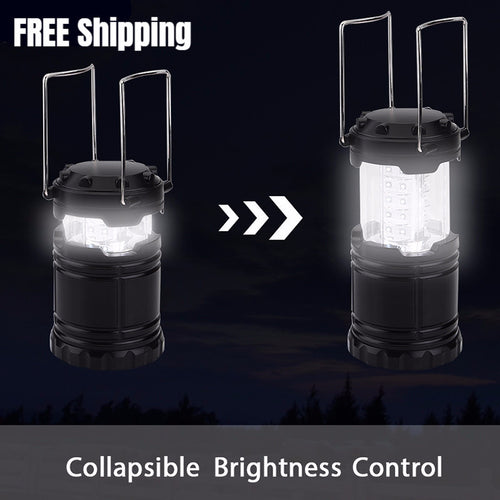 Portable Outdoor LED Camping Lantern Waterproof Hand Crank Lamp For Outdoor Emergencies - Shopatronics