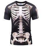 Hot New Style Casual Men 3D T Shirt Short Sleeve - Skeleton - Suit - Shopatronics