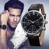 Men's watches famous luxury brand Leather Band Fashion Quartz Wristwatch