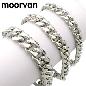 Men Bracelet Cuban links & chains Stainless Steel Bracelet - Shopatronics