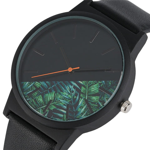 Unique Unisex Watches Tropical Jungle Design Quartz Wristwatch Free 2-7 Day Shipping