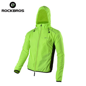 Reflective Breathable Bicycle Cycling Long Sleeve Wind Coat Quick Dry Jacket - Shopatronics