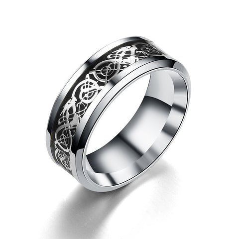 8mm Silvering Celtic Dragon Carbide Ring - Shopatronics - One Stop Shop. Find the Best Selling Products Online Today