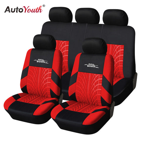AUTOYOUTH Fashion Tire Track Detail Style Universal Car Seat Covers Fits Most Brand Vehicle Seat Cover Car Seat Protector 4color - Shopatronics - One Stop Shop. Find the Best Selling Products Online Today