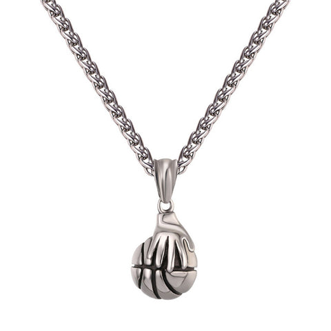 Gold Color Hand Basketball Necklaces & Pendants - Shopatronics