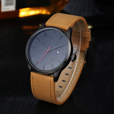 Top Brand Luxury Leather Business Quartz-Watch
