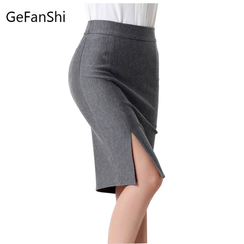 Fashion spring summer autumn 2017 new women skirt high waist work slim pencil skirt - Shopatronics