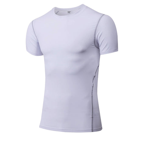 Yuerlian Quick Dry Compression Men's Short Sleeve T-Shirts Running Shirt Fitness Tight Tennis Soccer Jersey Gym Demix Sportswear - Shopatronics
