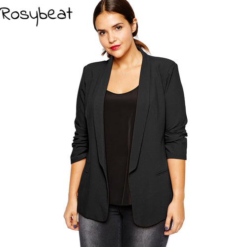 4xl Women Blazer Plus Size Women Clothing Slim Black Blazers Office Suits 5xl 6xl - Shopatronics - One Stop Shop. Find the Best Selling Products Online Today