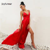High split red maxi dress - Shopatronics