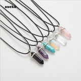 2017 Hexagonal Column Necklaces Natural Crystal Pendants - Shopatronics - One Stop Shop. Find the Best Selling Products Online Today