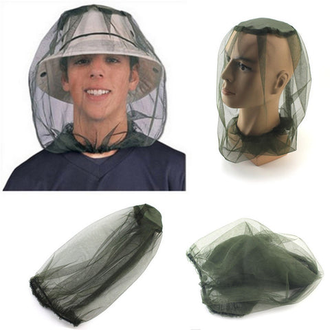 Mosquito Head Net Mesh Face Protector Cap Insect Bee Sun Fish Hat Fishing Clothings accessories outdoor hiking camping 2017