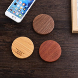 Qi Charger Wooden Nature Portable Wireless charger Fast charge For Samsung Galaxy S8 S7 Note 8 For Iphone 8 X Pad Phone - Shopatronics