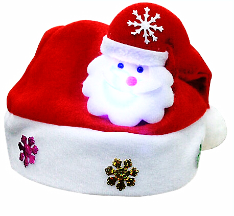 FREE Hot Kids Adult LED Christmas Hat Santa Claus Reindeer Snowman Xmas Gifts Cap