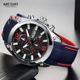 Waterproof Silicone Rubber Strap Wristwatch for Men - Shopatronics
