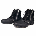 Otto Zone Boots Genuine Leather Shoes Handmade Ankle Boots - Shopatronics
