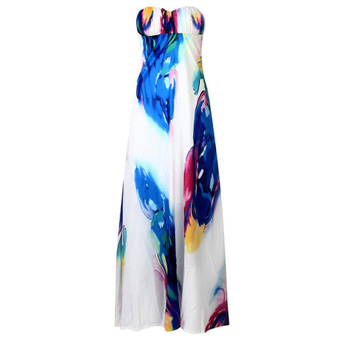 Vogue sexy Women NEW Vintage Sleeveless Floral Long Maxi Dresses Party Dress - Shopatronics