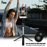 FGHGF Handheld mini Tripod Phone selfie stick Bluetooth Shutter Remote Controller Foldable Wireless for iPhone Selfie Stick - Shopatronics