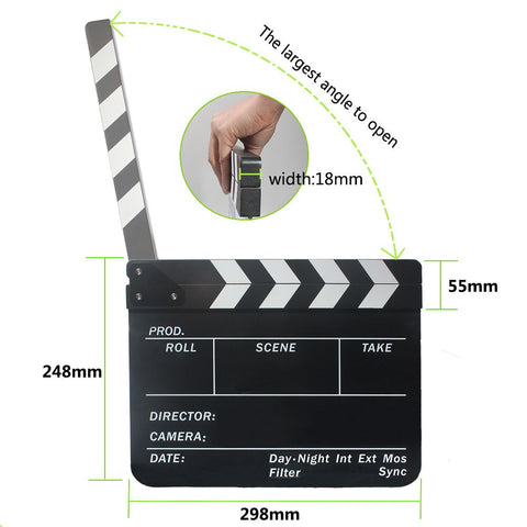 Big Size Clapper Board Acrylic Dry Erase Director TV Movie Film Action Slate - Shopatronics - One Stop Shop. Find the Best Selling Products Online Today