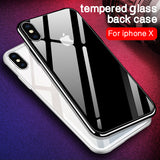Luxury Tempered Glass Phone Case for iphone X Anti-scratch High Transparency - Shopatronics