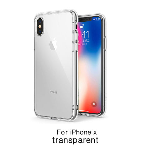 Luxury Tempered Glass Phone Case for iphone X Anti-scratch High Transparency