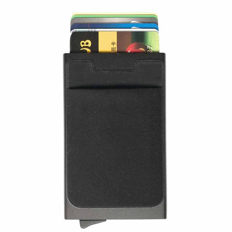 Antitheft Rfid Wallets Aluminum Rfid Blocking Slim Mini Wallet Automatic Card Holder Metal Credit Card Case Protector