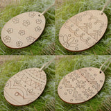 4Pc Wooden easter eggs Hanging Pendant Gift - Shopatronics - One Stop Shop. Find the Best Selling Products Online Today