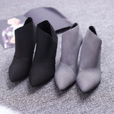 Hot Sale Pointed Toe High Heels Women Boots Basic Shoes Autumn And Winter Casual Fitted Female Single Fashion Outwear Shoe DT609 - Shopatronics