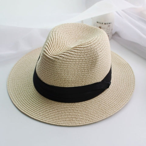 Summer hat classic black sun hats beach hats - Shopatronics