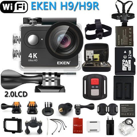 Original EKEN Action Camera H9R / H9 Ultra HD 4K WiFi Remote Control Pro Camera