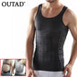 OUTAD Men Corset Body Slimming Tummy Shaper Running Vest Belly Waist Girdle Shirt Black Shapewear Underwear Waist Girdle Shirts - Shopatronics