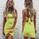 2018 women summer beach Bow dress sexy sleeveless Spaghetti Strap Backless dress Slim fit - Shopatronics - One Stop Shop. Find the Best Selling Products Online Today