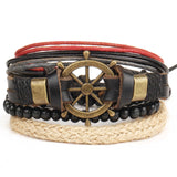 New Fashion accessory anchor Bead Leather Bracelets & bangles - Shopatronics