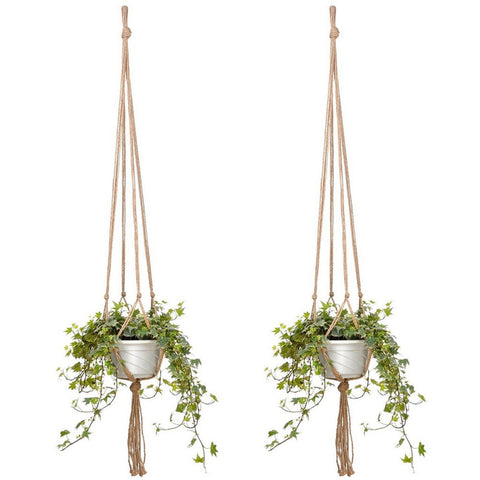 2PCS 47 Inches Plant Flower Hanger Macrame Jute for Indoor Outdoor Ceiling Deck Balcony Round and Square Pots - Shopatronics - One Stop Shop. Find the Best Selling Products Online Today