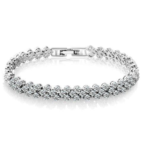 Women Fashion Exquisite Luxurious Crystal Bracelet Free 2-7 Day Shipping