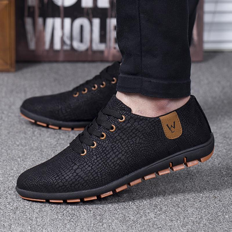 Spring/Summer Men Shoes Breathable Mens Shoes Casual Fashio Low Lace-up Canvas Shoes - Shopatronics