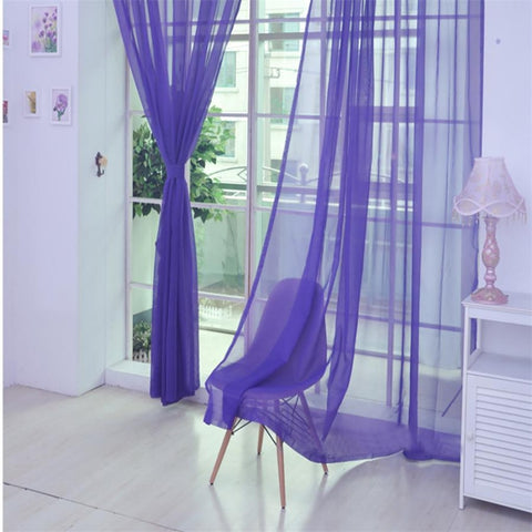 New Voile Curtain 200x100cm 1PC Fashion Window Curtain Free 2-7 Day Shipping